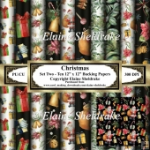 Christmas Patterns Set Two - Ten 12 x 12 Papers