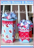 Cottage Chic Candle Gift Boxes with Coordinating Paper Bows