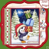 PERCY'S CHRISTMAS TOWER 7.5 Decoupage & Insert Mini Kit