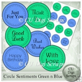 Circle Sentiments Green n Blue