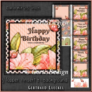 Card Kit 5 Toppers For Diffrent Occasions 1345