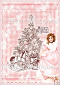 Olde Fashion Christmas Scene Backing Background Paper