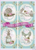 Perfect Paris Set of 4 Toppers