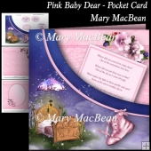 Pink Baby Dear - Pocket Card
