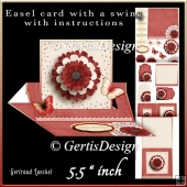 Easel Card With A Swing red