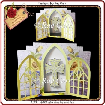 919 Lavendar & Yellow Flowers Gatefold HAND and MACHINE Formats