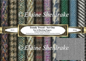 Trendy Tweeds Set One - Ten A4 Sheets of Backing Paper