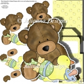 Baby Ted Decoupage Set