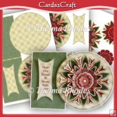 Shaped Christmas card mandala set