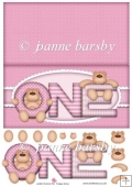 Girl One Bear Card Sheet