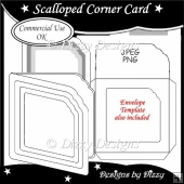 Scalloped Corner Card Template