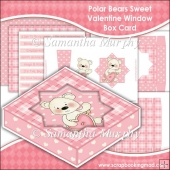 Polar Bears Sweet Valentine Window Box Card