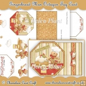 Gingerbread Man Octagon Tag Card