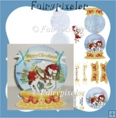 Christmas Carousel Horse Snow globe card Kit