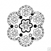 Flower Digital Stamp - Commercial and Personal Use