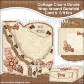 Cottage Charm Ornate Wrap Around Gatefold Card and Gift Box