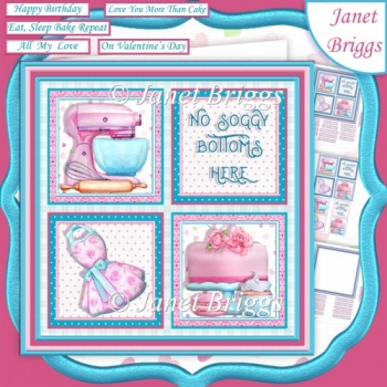SOGGY BOTTOMS Baking 7.5 Quick Layer Card & Insert Kit