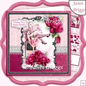 CHAMPAGNE GLASS DIVA 8x8 Decoupage & Insert Kit