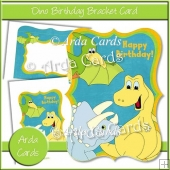 Dino Birthday Bracket Card