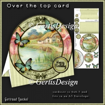 Over the Edge Round Card Kit vintage cottage