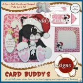 A Purr-fect Christmas Shaped Fold Card Kit