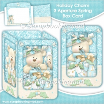 Holiday Charm 3 Aperture Spring Box Card