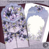 Concertina Card Winterblossom