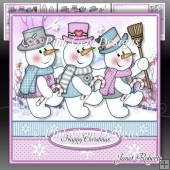 Snowmen Trio Mini Kit