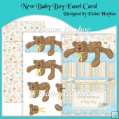 New Baby Boy Easel Card & Decoupage