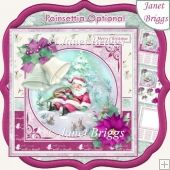 CHRISTMAS BELLS & SANTA NAP 7.5 Decoupage & Insert Kit