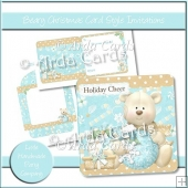 Beary Christmas Card Style Invitations