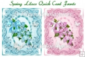 Spring Lilacs Pair of Quick Card Fronts