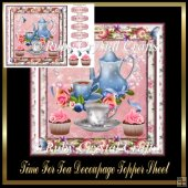 Time For Tea Decoupage Topper