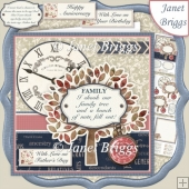 FAMILY TREE 7.5 Decoupage & Insert Mini Kit