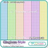 Gingham Style Paper Pack A4