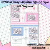 CRDS1 Christening Simplipage Toppers and Layers with Background