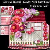 Summer Blooms - Garden Shed Easel Card