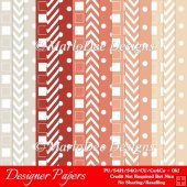 Modern Hues Pkg2 Digital Designer Patterns Scrapbooking Papers