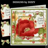 Poppy Layered Card