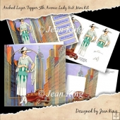 Arched Layer Topper Card 5th Avenue Lady 8x8 Mini Kit