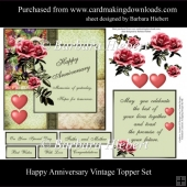 Happy Anniversary Vintage Topper Set