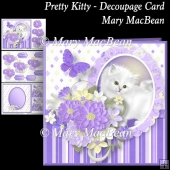 Pretty Kitty Decoupage Card