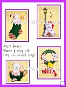 Jingle Bears Paper Piecings