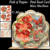 Field of Poppies Petal Easel Card