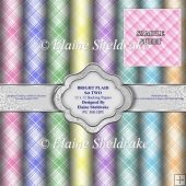 Bright Plaid Set Two - 12 x 12 Backing Papers - PU - 300 dpi