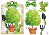 get them green fingers going! garden lace A5 Tag