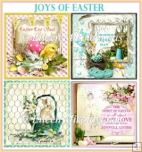 Joys of Easter Square Card Toppers Set of 4