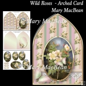 Wild Roses - Arched Card