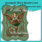 Steampunk Fairy Bracket Shaped Card