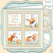 PAWSOME DAY SQUARES 7.5 Quick Layer Card & Insert Mini Kit